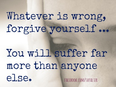 forgive yourself.FB